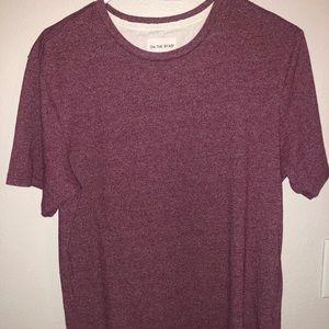 Long maroon nice t shirt